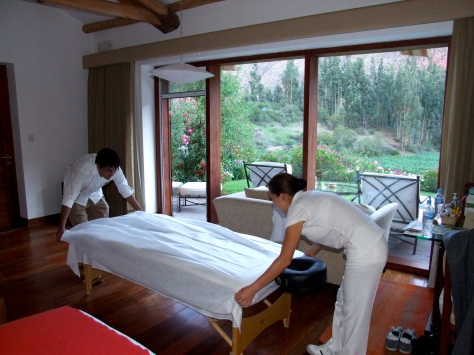 Belmond Rio Sagrado - Massage in Room