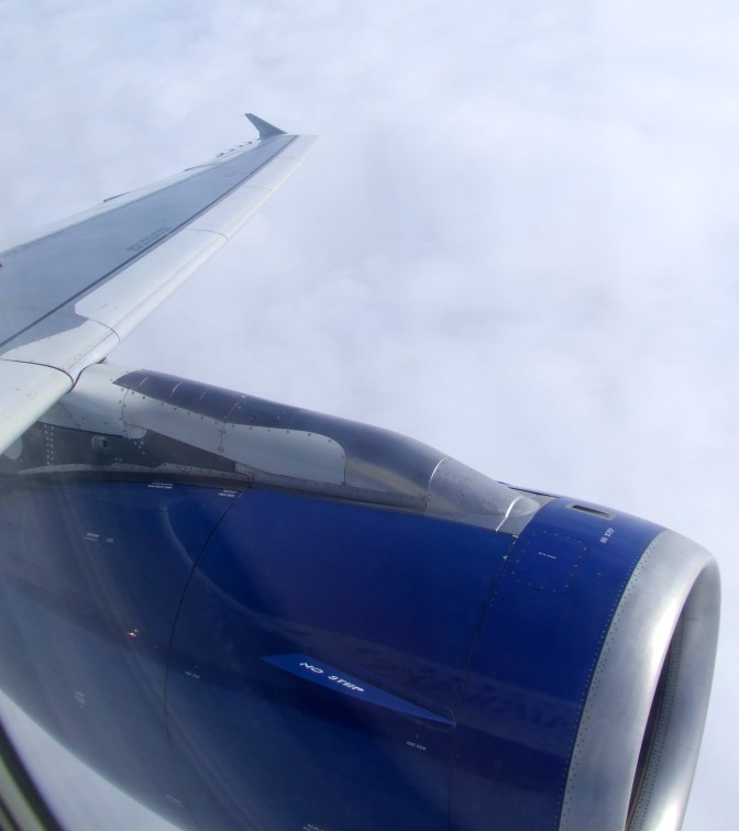 British Airways A320 - View from seat 1A