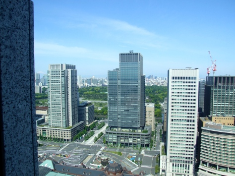 Shangri La Tokyo - View from Imperial Garden view room