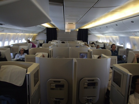 BA B777 Club World Cabin