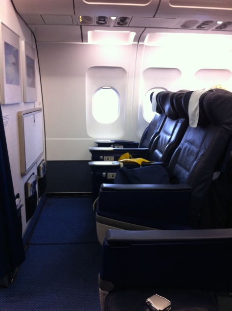 Brisitsh Airways A320-200 - Club Europe´s view seat 1A
