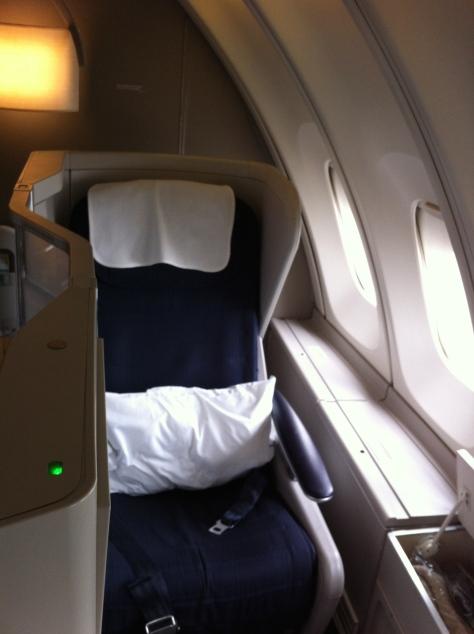 British Airways B747-400 Upper deck seat 60K