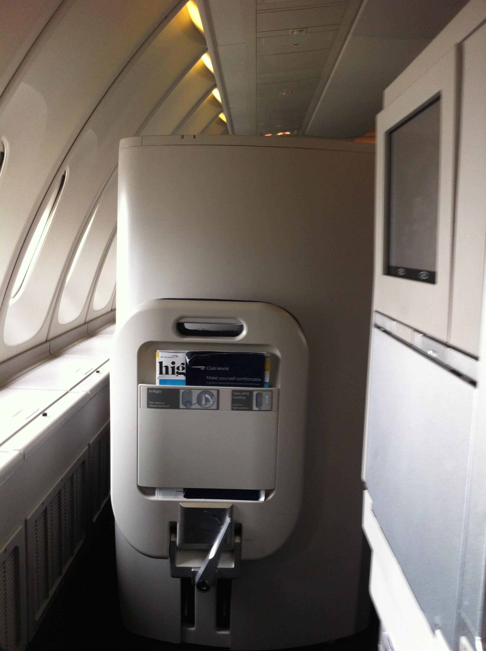 British Airways Club World Cabin Boeing 747 400 God