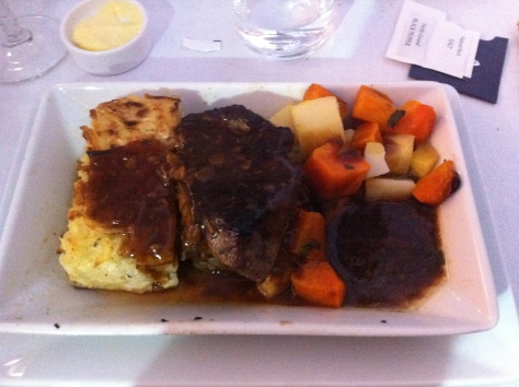 British Airways B747-400 Upper deck meal