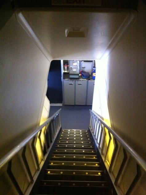 British Airways B747-400 Upper deck stairs