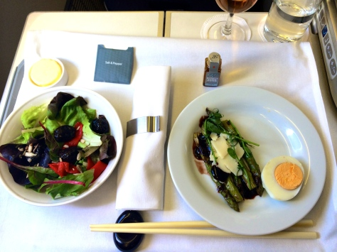 BA B777 Club World food to Haneda