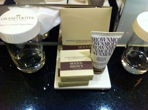 Grand Hotel Stockholm - bathroom amenities