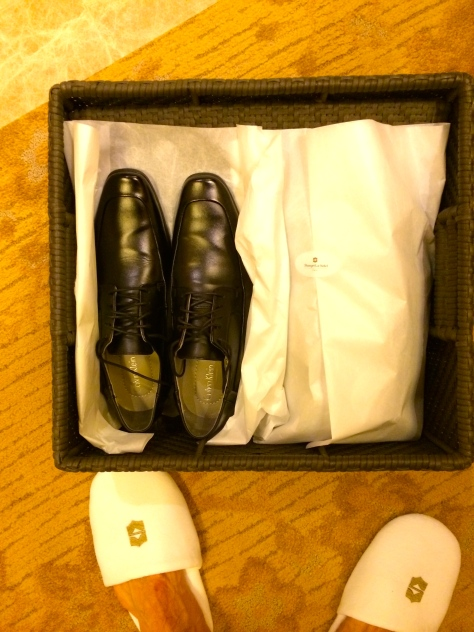 Shangri La Tokyo- Complimentary shoes polish