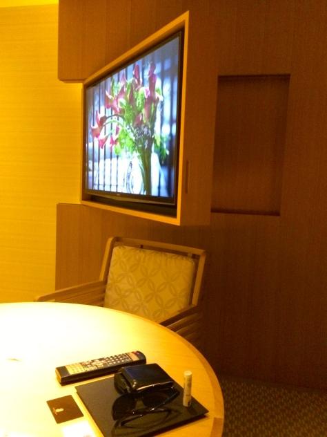 Ritz Carlton Kyoto- Luxury KAMOGAWA room tv screen