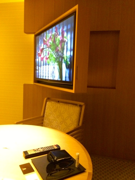 Ritz Carlton Kyoto- Luxury KAMOGAWA room tv screen