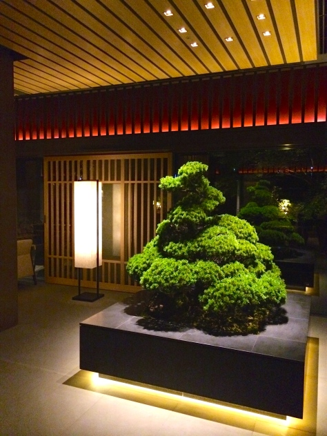 Ritz Carlton Kyoto - Lobby bonsai
