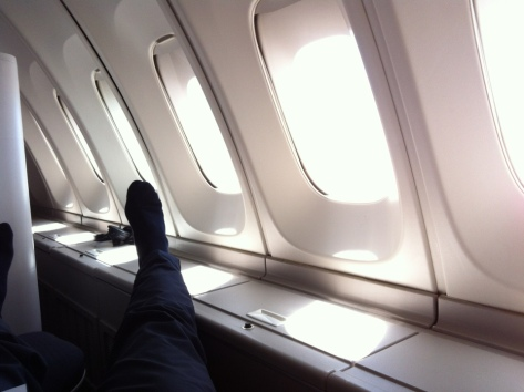 British Airways B747-400 Upper deck view