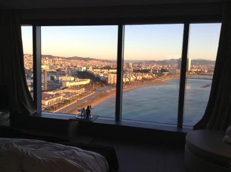 W Barcelona - bedroom Spectacular corner suite