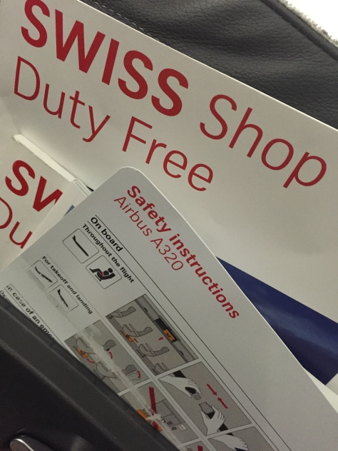 Swiss Airlines - A320 - info cards