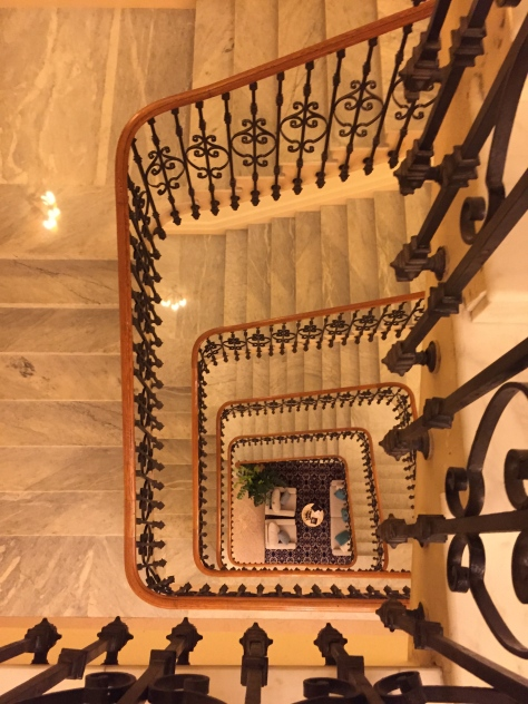 Intercontinental Carlton Cannes - staircase