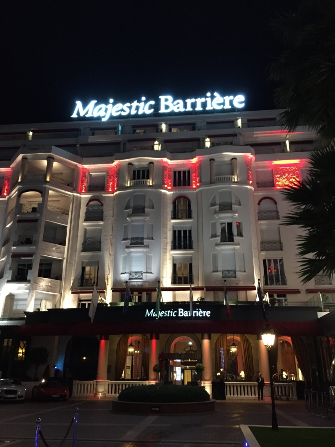 Hotel Majestic Barrier – Cannes – 5 stars – Tres chic, but be very careful..