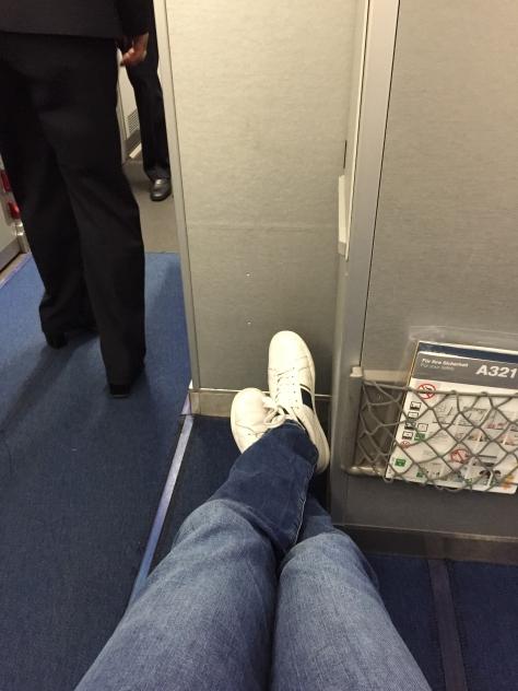 Lufthansa A321 - 200 Business Class first row leg room